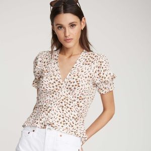 Salvador Top in Sabine Floral Print